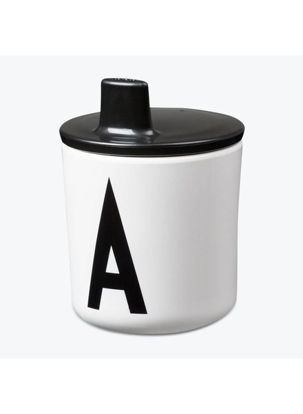 Design Letters Drinkdeksel Zwart