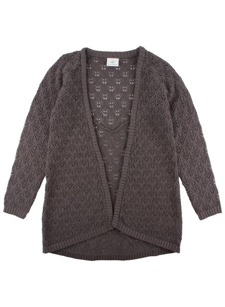 En'fant Ever Knit Cardigan Charcoal Gray