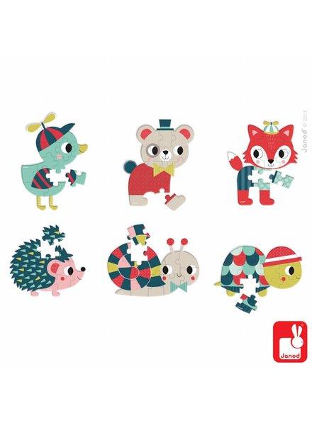Janod Mini Puzzel dieren
