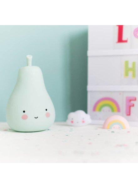 A Little Lovely Company Mini Pear Light - Mint