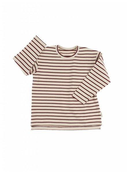 Tiny Cottons Stripes Tee - beige/bordeaux