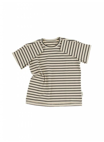Tiny Cottons Stripes Tee - beige/black