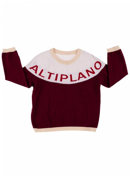 Tiny Cottons Altiplano sweater oversized - bordeaux / pale pink