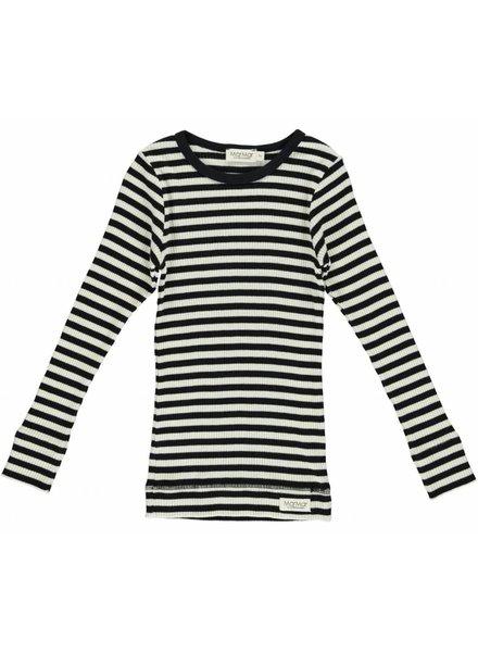 MarMar Copenhagen Plain Tee - Model Stripes - black/off white