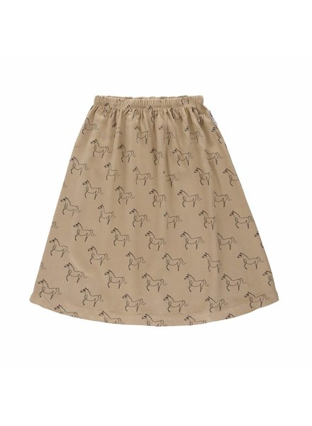 Maed For Mini Skirt HAPPY HORSE C CAMEL AOP