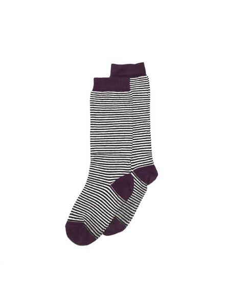 MINGO Knee Socks Striped/Eggplant