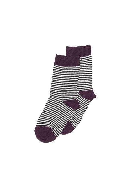 MINGO Socks Striped/Eggplant
