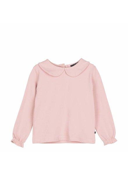 House of Jamie Girls Collar Tee - Powder Pink
