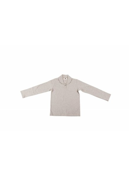 House of Jamie Boys Collar Tee - Longsleeve Stone