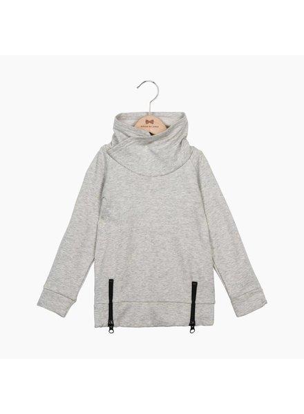 House of Jamie Long Zip Sweater - Stone