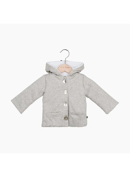 House of Jamie Bow Tie Hooded Jacket - Stone