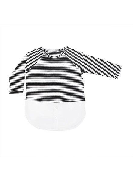 MINGO Combi dress b/w Stripes