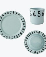 Design Letters Melamine the numbers - gift set Mint