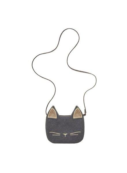 MIMI & LULA CAT FACE CROSS BODY BAG-BLACK