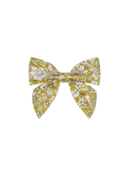 MIMI & LULA PEPPER PRINTED BOW - LIME