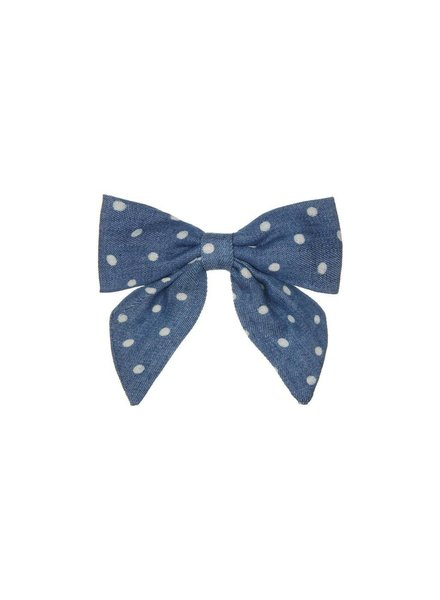 MIMI & LULA PEPPER PRINTED BOW - DENIM SPOT