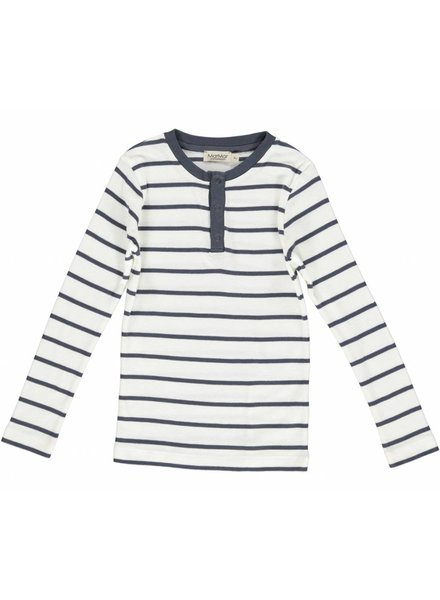 MarMar Copenhagen Trevor Modal Plain stripes - Gentle White/Blue