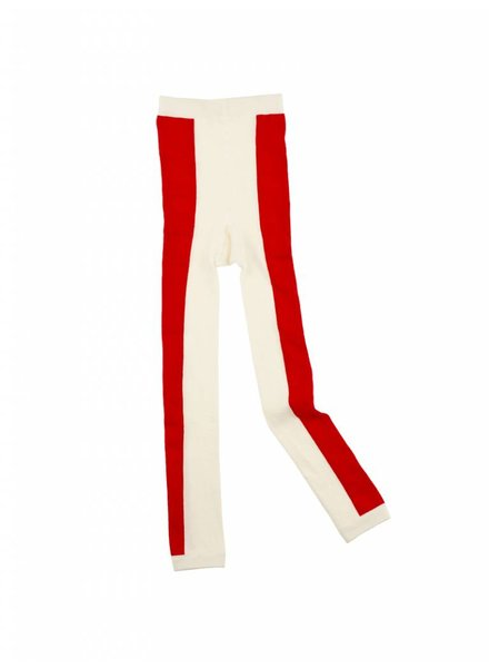 Tiny Cottons Long line leggings - offwhite/carmin