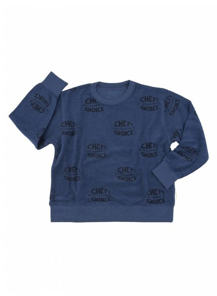 Tiny Cottons Club sandwich towel sweatshirt - light navy/navy