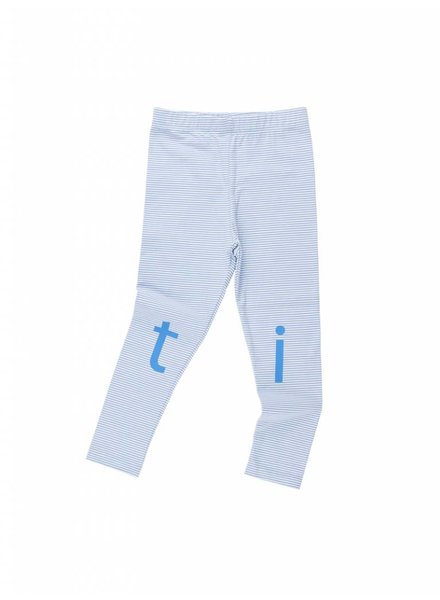 Tiny Cottons t-i-n-y logo pant - offwhite/cerulean blue
