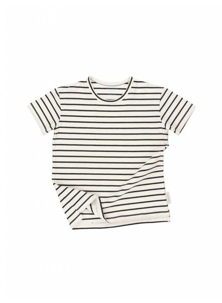 Tiny Cottons Small Stripes SS tee - off white/navy