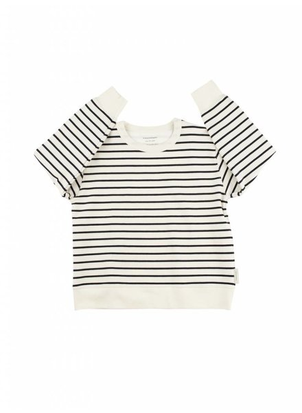 Tiny Cottons Small Stripes FT sweatshirt - off white/navy