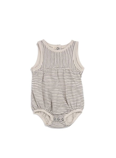 Phil & Phae Babysuit stripe - oatmeal
