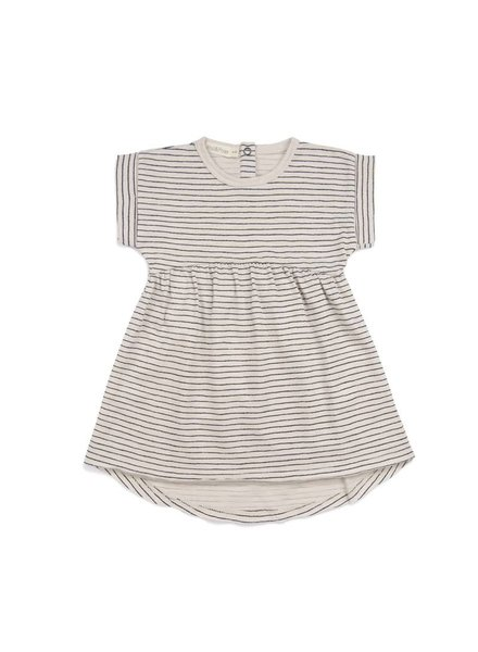 Phil & Phae Dress stripe - oatmeal