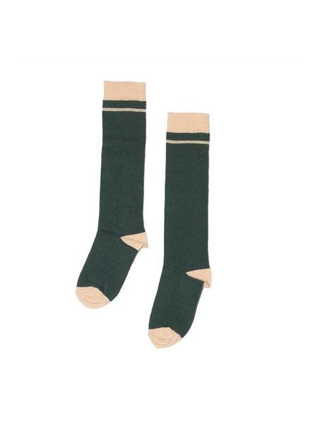 MINGO Knee Socks Rainforst green/Apricot