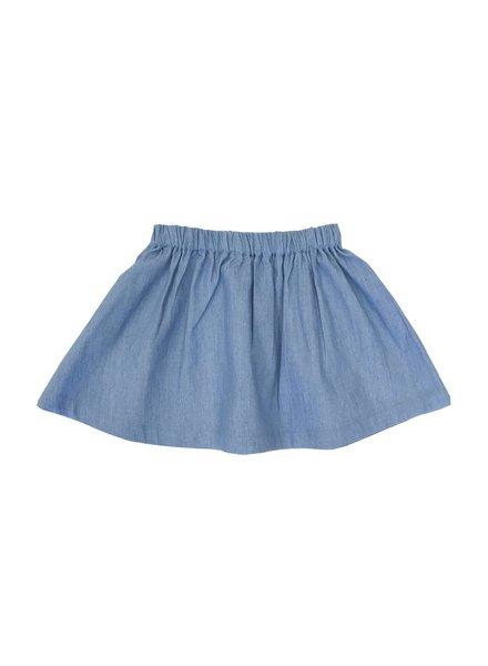 Petit Blush Skirt Blue Jeans