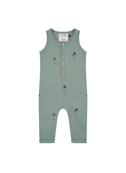 Little Indians Jumpsuit Palm Trees Soft Green