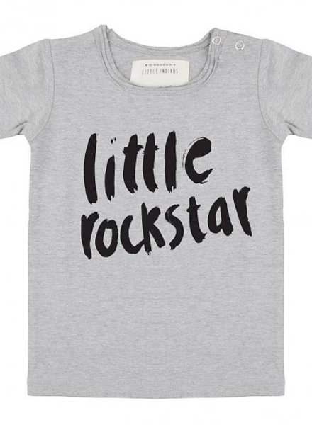Little Indians Shirt Little Rockstar - Grey Melange