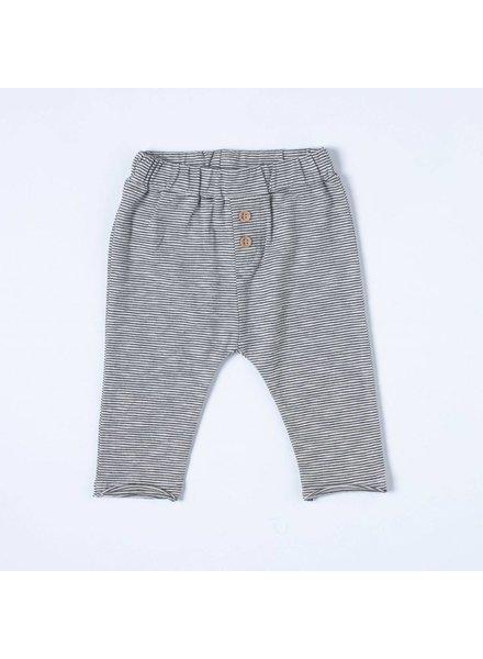 NIXNUT Pocket Pants Black White Stripe