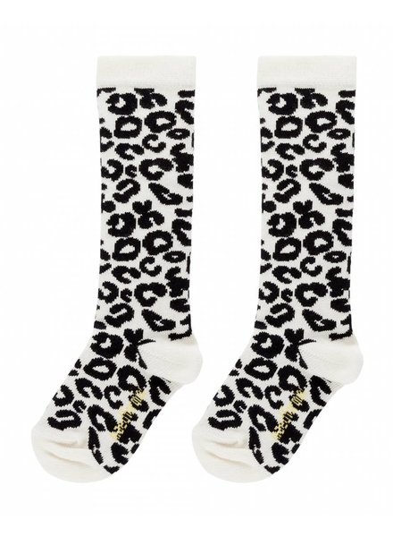 Maed For Mini KNEE SOCKS - WHITE LEOPARD