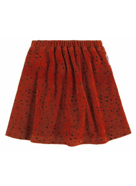 Maed For Mini SKIRT - RED LEOPARD AOP