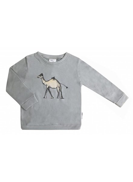 Maed For Mini SWEATER - GOOFY CAMEL PRINT