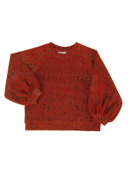 Maed For Mini SWEATER - RED LEOPARD AOP