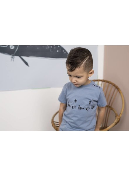 One We Like ONE SS FISH PARTY - FADED DENIM