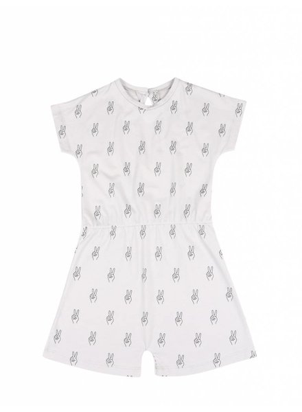 One We Like PLAYSUIT PEACE AOP - VAPOUR GREY