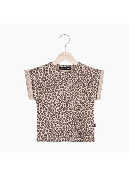 House of Jamie Batwing Tee - Caramel Leopard