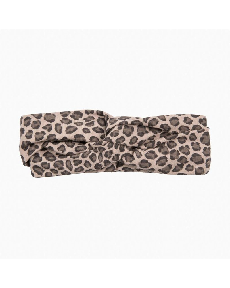 House of Jamie Turban Headband - Caramel Leopard