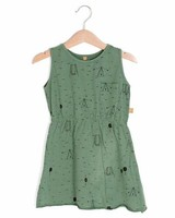"Lotiëkids Dress Sleeveless ""Swing Park"" - Pine green"