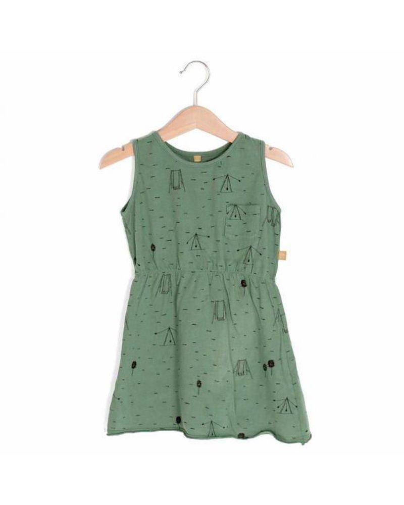 "Lotiëkids Dress Sleeveless ""Swing Park"" - Pine green"