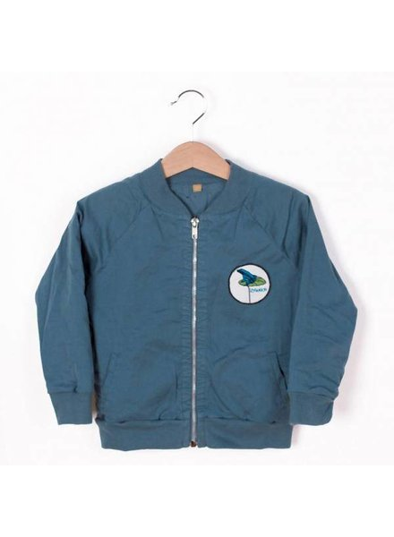 Lotiëkids Twill Bomber Jacket - Lake Blue