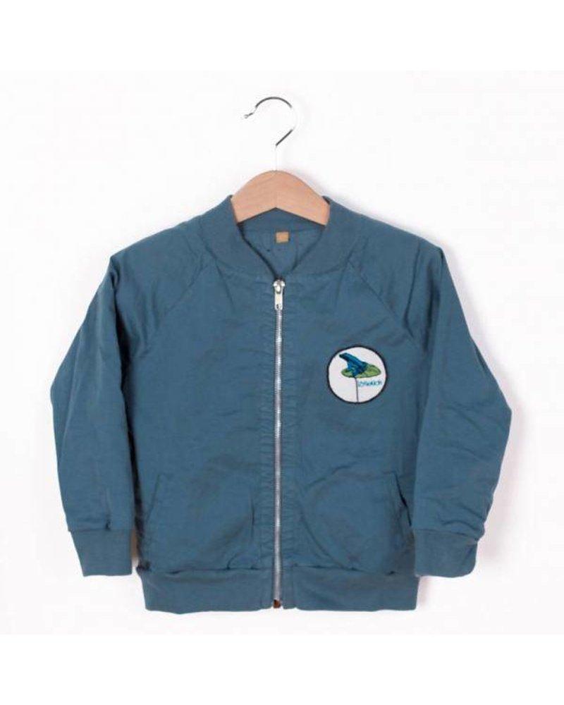Lotiëkids Twill Bomber Jacket - Lake Blue