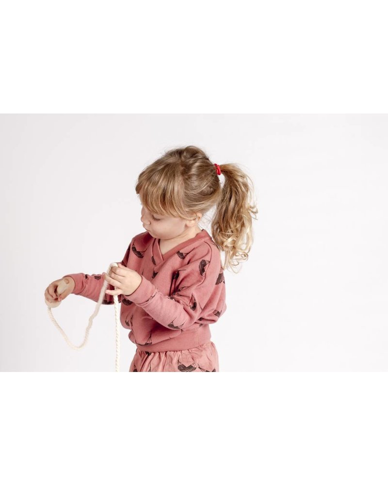 "Lotiëkids Sweatshirt Loose sleeve ""Hammocks"" - Terra Cotta"
