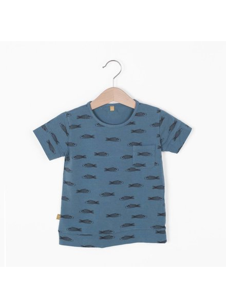 "Lotiëkids Tshirt classic fit ""Fishes"" - Lake Blue"