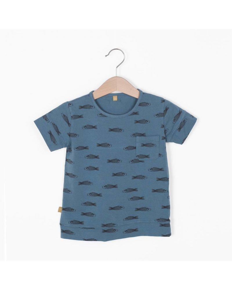 "Lotiëkids Tshirt classic fit ""Fishes"" - Lake Blue"