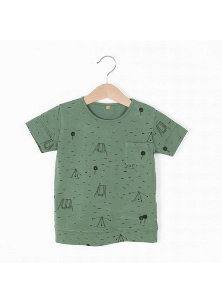 "Lotiëkids Tshirt classic fit ""Swings park"" - Pine Green"