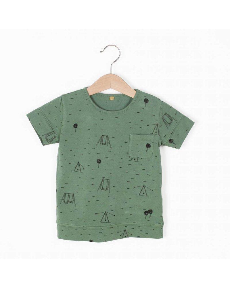 "Lotiëkids Tshirt classic fit ""Swings park"" - Pine Green"